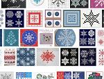 схемы для вышивания снежинок